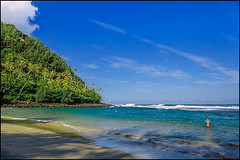 0405032-Haena-Kauai (Greg Vaughn) Tags: travel nature landscape outdoors island hawaii islands pacific sandy scenic snorkeling kauai hawaiian beaches tropical tropics kee haena keebeach 0405032