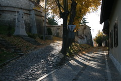 IMG_0341 (christbt) Tags: kazimierzdolny warsaw poland varsovia polonia pueblo montaas mountainvillage autumn fall orangecolours light path steep cobbles sunlight luz rayosdesol dorado goldencolourlight