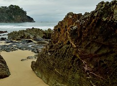 Honeycomb. (jack eastlake) Tags: beach nude bay coast south valley nsw geology far bermagui nudists bega armands naturists