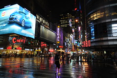 Rainy night in NY (dirklie65) Tags: street usa ny newyork rain night reflections lights abend bigapple regen lichter spiegelungen strase