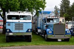 "1954 Kenworth K-825 ""Bullnose"" & 1979 W900A (Truck Exposure) Tags: coe cabover kenworth19701979 kenworth19501959"