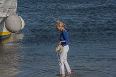 DSC_5882 (Pasquesius) Tags: sea ferry lady island boat barca mare lagoon tourist blonde sicily laguna saline sicilia saltponds isola turista traghetto marsala mozia bionda signora mothia stagnone motya riservanaturaledellostagnone