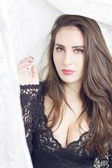 Jen draped lace (Hayden Luscombe_) Tags: beauty bed model dish lace alien bee setup gown strobe nightgown draped beautydish b800 strobist