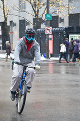 Winterized (Mikey Brick) Tags: winter chicago bike bicycle cyclist goggles facemask magnificentmile goldcoast 2014miketravis