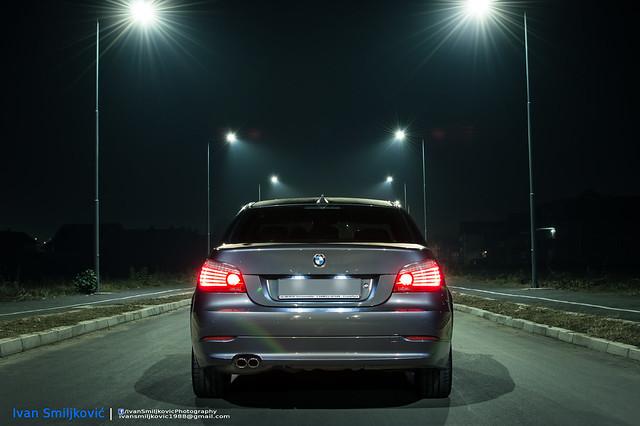 nightphotography composite exterior interior bmw 535 5series e60 xdrive