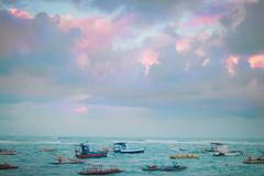 Pernambuco 2014 (TheJennire) Tags: ocean camera trip travel light sea brazil vacation sky luz praia beach brasil clouds canon cores landscape photography boat mar photo colours foto pastel young playa céu colores teen cielo nuvens fotografia camara pernambuco portodegalinhas 2014 nuves tumblr