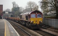 66030 Water Orton 25/11/2014 (Flash_3939) Tags: uk november train diesel rail railway locomotive waterorton dbs 2014 class66 ews 66030 dbschenker