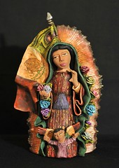 Guadalupe Queen of Mexico (Teyacapan) Tags: mexico folkart crafts mexican clay pottery guadalupe ocotlan barro oaxacan aguilars