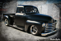 '52 Chevy Truck Flat Black (Photos By Vic) Tags: old black classic chevrolet truck vintage antique pickup chevy vehicle carshow 52 1952 carart