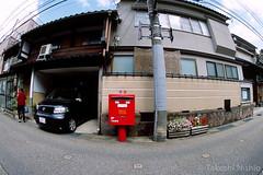 いつものポスト / The Usual Post (Takeshi Nishio) Tags: uv nikonfm3a ポジ ei100 フィルム 16mmfisheye fujiprovia100frdpiii いつものポスト filmno799