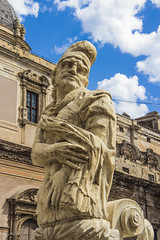Old Statue (DC P) Tags: old sky italy man men classic fountain face statue by clouds canon vintage naked sad retro sicily piazza michelangelo palermo pretoria sculptor francesco florentine fontein assisted 60d camilliani naccherino