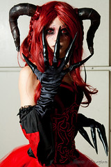 Lydia: Demonia (Simon Rush) Tags: cosplay gothic demon gotico 2014 romics demone originalcosplay approvato