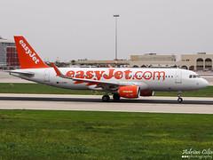 EasyJet --- Airbus A320SL --- G-EZWX (Drinu C) Tags: plane aircraft sony airbus dsc easyjet a320 mla lmml sharklets hx100v adrianciliaphotography gezwx