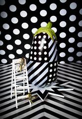 Aubergine Art (Raggedjack1) Tags: blackwhite surrealism popart aubergine locust aubergineart strangefriut