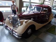 Jaguar MkV 3.5l DHC 1950 (Zappadong) Tags: auto classic car automobile voiture coche classics oldtimer jaguar oldie dortmund 1950 carshow dhc mkv 2014 youngtimer automobil automuseum 35l oldtimertreffen zappadong