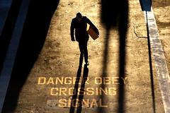 DANGER (. Jianwei .) Tags: street morning light shadow vancouver danger golden candid waterfrontstation jianwei dangeous kemily