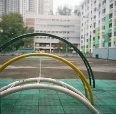 Ring 1 (I Am Laura CHUNG) Tags: color film playground hongkong colours ishootfilm daytime yashica 120mm yashicad shekkipmei kodakpotra160 potra160