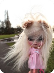 A blustery day for Miss Yeti