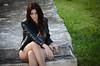 DSC_4820 (TimMurphyPhotography) Tags: girl leather model badass jacket bikini brunette cheyenne bikinimodel