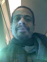 The Face of Bliss, 1/17/2015, 8:30am (artistmac) Tags: city winter urban chicago train illinois january il passenger metra bilevel standinginline 2015 doubledeck grayslake foxlake madeit lakevilla milwaukeenorthline