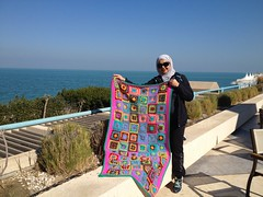 Blanket. (Salma70) Tags: colors squares handmade crochet blanket granny salma
