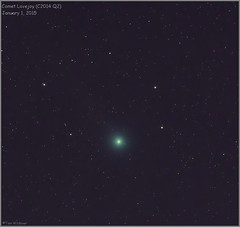 Comey Lovejoy (C2014 Q2) (Tom Wildoner) Tags: sky night canon timelapse space january astrophotography astronomy comet solarsystem astronomer 2015 canon6d ioptron cometlovejoy tomwildoner zeq25gt c2014q2
