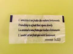 Friendship - Aristotle (k0101) Tags: amicizia aristotle 322 perugina frindship aristotele aforisma bacioperugina