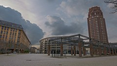 Frankfurt Main Plaza LX100 (Dinu Dominic Manns) Tags: plaza city sky urban architecture river germany lumix daylight frankfurt main panasonic deutschherrnufer lx100