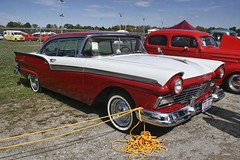 """Take your """"Blue Monday""""... (~ Liberty Images) Tags: red ford classiccar automobile pumpkinrun fairlane libertyimages redandwhitecar"""