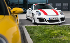 911R (Alex Penfold) Tags: red white cars alex car germany europe stripes 911 super r porsche autos supercar supercars 991 penfold nurburgring 2016 911r
