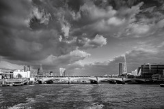 Black Friars Bridge Mono (K_D_B 2 Million views. Thanks) Tags: bridge sky bw cloud london water thames canon river mono blackwhite blackfriarsbridge kdb 7dmkii sigma1770f28dcosmacro