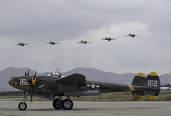 5 P-40s in Formation (dcnelson1898) Tags: california military airplanes airshow warbirds usnavy worldwar2 chino usarmy koreanwar militaryhistory sanbernardinocounty planesoffamemuseum chinoairport 2016planesoffameairsow