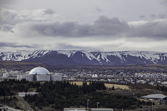 Perlan shines (aerojad) Tags: travel vacation mountains church clouds landscape iceland cityscape cathedral horizon hallgrimskirkja thepearl reykjavik wanderlust perlan reykjavk hallgrimskirkjacathedral iceland2016