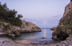 Moonlight (lulo92) Tags: sea sky moon water nikon italia luna castro moonlight acqua viva salento puglia hitech lunarossa 14mm lungaesposizione longexpositure samyang acqau filti nikond5200