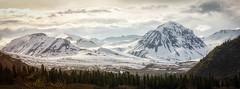 Hoo-doo spring (frostnip907) Tags: sunset panorama mountains nature alaska landscape spring pano goldenhour richardsonhighway f64g76r4win