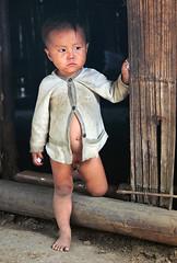 Little boy in a hill-tribe village in Laos (albatz) Tags: boy naked village child laos hilltribe