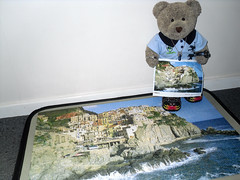 No box! (pefkosmad) Tags: bear sea italy ted toy coast stuffed soft teddy fluffy hobby plush puzzle leisure jigsaw manarola complete pastime clifftop unboxed 1000pieces tedricstudmuffin