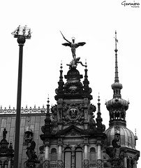 HAMBURGER RATHAUS s/w (GeronimoPictures) Tags: pictures street old city trip travel light blackandwhite bw sun white holiday black building tower art history monument public monochrome beautiful statue architecture canon germany fun deutschland photography eos michael photo blackwhite focus memorial europa europe flickr foto fotografie photos pics outdoor alt hamburg north norden sightseeing perspective picture sigma pic architektur townhall bild archangel bilder exciting beginner lightroom freiheit anfnger erzengel nocolor nocolour onecolour monocolour sigma1770 canon60d flickrfotografen canoneos60d eos60d