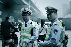 cops (getbend4rice) Tags: china morning work cops chengdu agent trafic