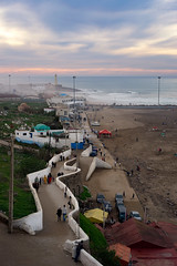 Overlooking the Rabat Beach (departing(YYZ)) Tags: africa travel sunset beach zeiss landscape coast morocco rabat
