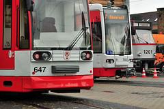 Dwag/Siemens MGT6D #637 HAVAG Halle (Saale) (3x105Na) Tags: germany deutschland tram halle strassenbahn zajezdnia saale 637 tramwaj betriebshof btf sachsenanhalt niemcy havag dwagsiemens mgt6d