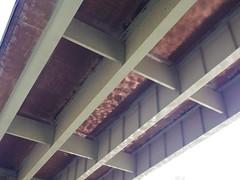 Reflections under the bridge (EllenJo) Tags: arizona river pentax tube raft verderiver riparian sundayafternoon june5 clarkdale 2016 ellenjo summerinarizona ellenjoroberts tuzigootbridge tuzirap pentaxqs1 cruisingdowntheriveronasundayafternoon