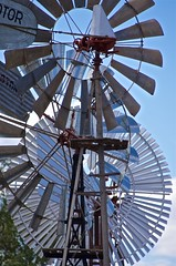 A succession of windmills (outback traveller) Tags: historic seq