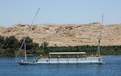 Empty party boat on the Nile (stevelamb007) Tags: boat nikon desert empty d70s egypt nile aswan nileriver partyboat 18200mmvr stevelamb