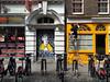 Queenie (The Popular Consciousness) Tags: uk greatbritain streetart london graffiti stencil mural unitedkingdom candid pedestrian bicycles painter vandalism tagging subversive thequeen edseasydiner