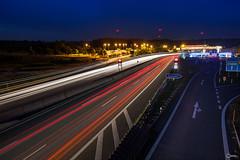 An der Autobahn-3 (visiological) Tags: longexposure berg de bayern deutschland autobahn langzeitbelichtung