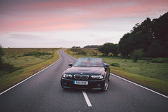 E46 M3 @ New Forest (Robbie Khan) Tags: road uk cars car sunrise 35mm canon july sigma convertible bmw 5d m3 newforest e46 mkiii mk3 2016 rogerpennyway