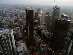 Downtown View (dmvcomics) Tags: california ca tower skyscape observation la us los downtown angeles library bank deck oue
