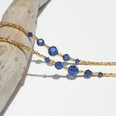Gold Eyeglass Chain with Navy Blue Swarovski Crystal (JanJat Jewelry) Tags: eyeglassholder eyeglassnecklace eyeglasslanyard eyeglass chain beaded eyeglasschain oneofakind etsy glasses sunglasses sunglasschain eyewear accessories goldeyeglasschain gold lanyard