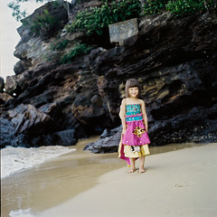 Alyzza (rifqi dahlgren) Tags: portrait cute girl dress indonesia balikpapan strobist mediumformat analog film hasselblad500cm 80mm kodakportra400